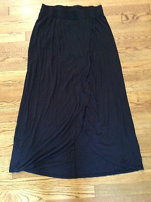 Liz Lange Maternity Long Skirt Maxi Black Cute Xs 💕💕💕💕