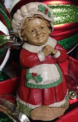 "Tom Clark Christmas Gnome Mrs. Claus Welcome Home Santa Signed 4.5"" Tall"
