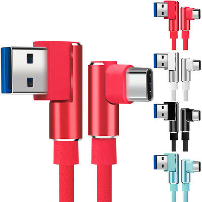 Type C 90 Degree Right Angle USB C 3.1 Fast Data Sync Charging Charger Cable New