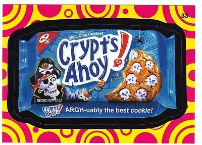 """2015 Wacky Packages Series 1 """"CRYPT'S AHOY!"""" #33  Insert Sticker Card"""