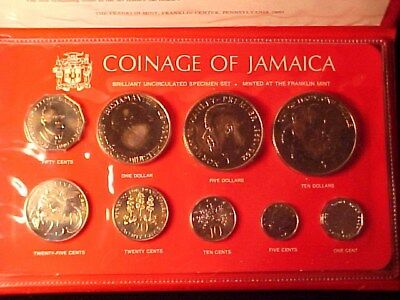 Jamaica 9-Coin Specimen Mint Set 1978 Scarce Only 1282 Issued