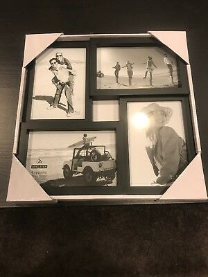Malden 4x6 4-Opening Collage Matted Picture Frame - Displays FOUR 4x6 Pictures -