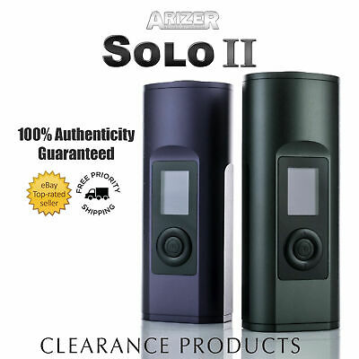 Arizer Solo 2 II Black Blue NEW 2018 Model Authentic - FREE Priority Shipping