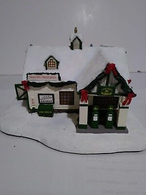 Thomas Kincade John Deere Creek Village Service Station Lighted Brand New