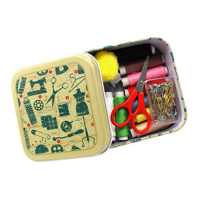 Sewing Kit Measure Scissor Thimble Thread Needle Storage Box Travel Set