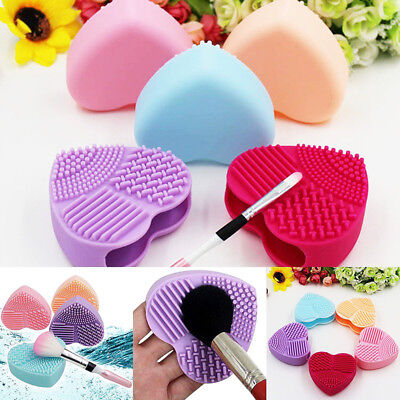 Makeup Brush Cleaner Cosmetic Cleaning Silicone Scrub Foundation Egg brush Tool.