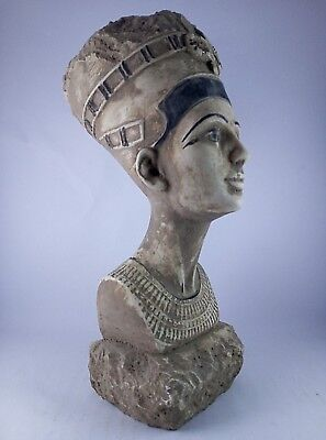 ANCIENT EGYPTIAN ANTIQUE STATUE QUEEN NEFERTITI Head Carved Stone 1370-1330 BC