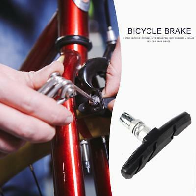 1Pair Bicycle Cycling MTB Mountain Bike Rubber V Brake Holder Pads Shoes Durable