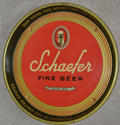 Antique Schaefer Beer Serving Tray H.D. Beach CO. Coshocton, OHIO