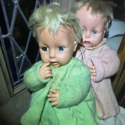 COLLECTABLE ANTIQUE CHILTERN DOLL 1960's Made In England two Boys