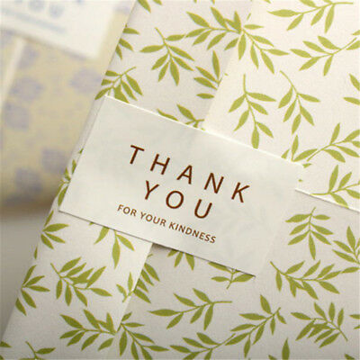 96pcs/Set Thank you Kraft Seal Stickers For Handmade Products DIY Packaging  Z