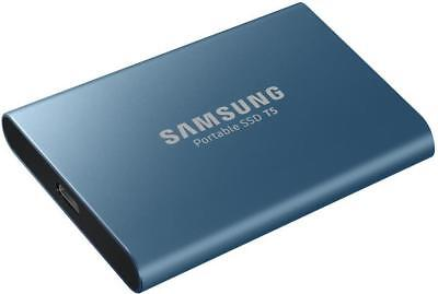 SSD T5 Portable Solid State Drive, 250GB Blue - SAMSUNG