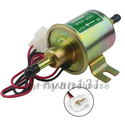 12V/24V Electric Fuel Pump Low Pressure Bolt Fixing Wire Petrol HEP-02A AU