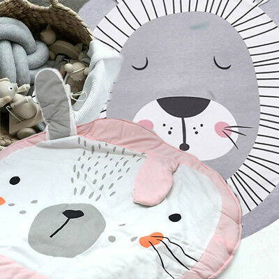 Animals Baby Play Mat Cotton Mat Soft Rug 2cm Thick Blanket Play Mat Lion Rabbit