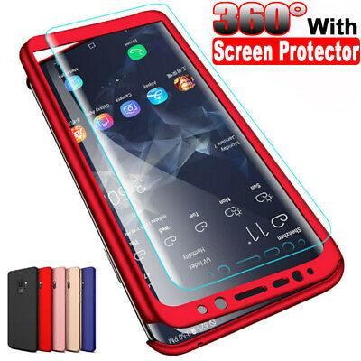 360° Full Cover Case + Screen Protector For Samsung S7 Edge S8 S9 Plus Note 9 8