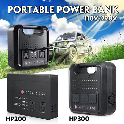 200W/300W 4 USB  Solar Power Station Generator Pure Sine Wave Inverter Supply US
