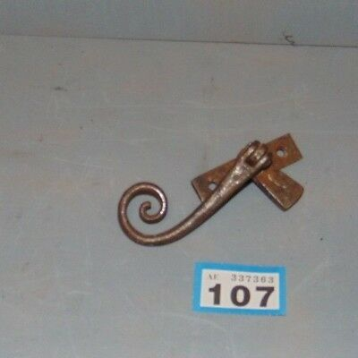 Original Vintage Wrought Iron Monkey Tail Window Catch  108