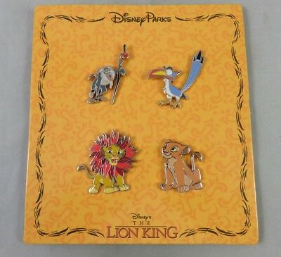 Disney 4 Pin Booster Set - The Lion King - Simba / Rafiki / Nala / Zazu