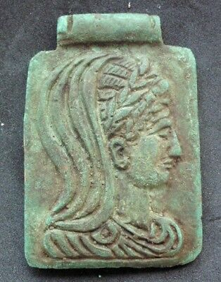 Ancient Roman Bronze Decoration From Oil Lamp - 100 Ad
