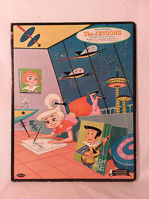 Vintage 1962 Hanna Barbera THE JETSONS Frame-Tray Puzzle JUDY classic cartoon !!