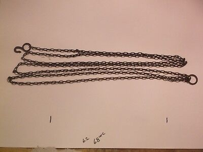 A STEEL CHAIN FROM AN OLD CUCKOO CLOCK 68 INCH LONG 62 LINCS TO THE FT  ref SA 9