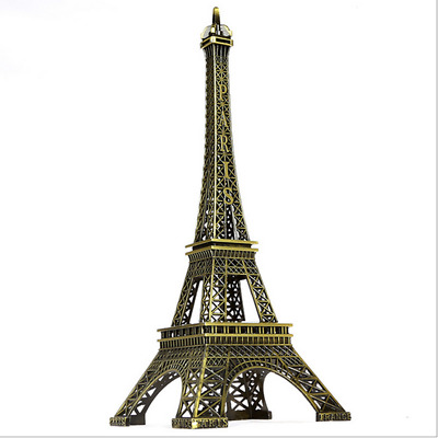 "5.1"" Retro Metal Crafts Bronze Paris Eiffel Tower Figurine Figure Model 13cm"