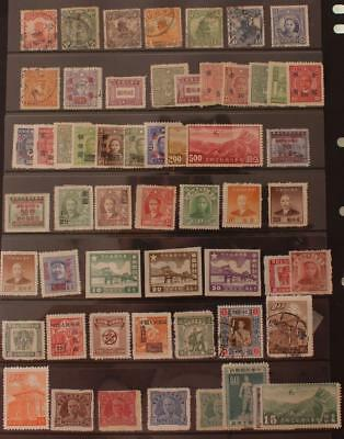 China and Provences Mix of Used and Mint Hinged 1900s-1940s 56v