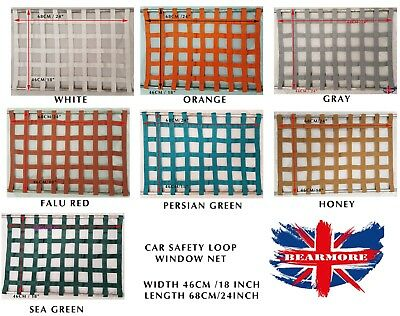 Racing Rally Car Safety Window Net Protector Racing Car Safety Equipment UK