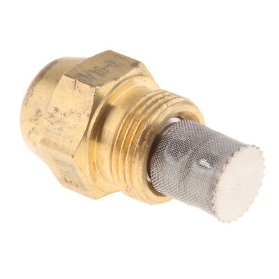 Brass Oil Burner Spray Nozzle Fits Furnaces, 9/16 Inch Thread Connect, 0.7mm