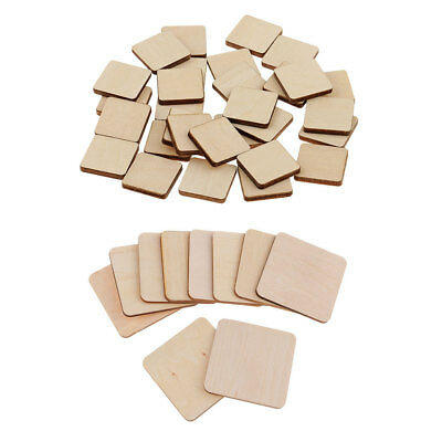 40Pcs Wooden Square MDF Plaque Unfinished Blank Coasters for DIY Pyrography
