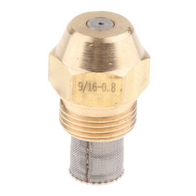 Brass Oil Burner Spray Nozzle Fits Furnaces, 9/16 Inch Thread Connect, 0.8mm