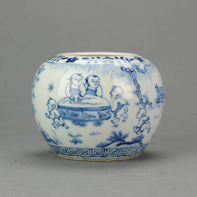 Antique Chinese Porcelain Boys Jar Ming or early Qing China Rare