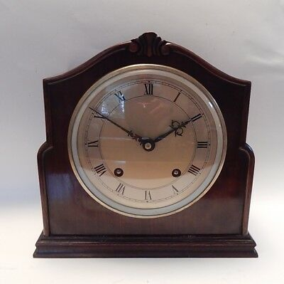 Fine Garrard Striking Mahogany Case Mantel Clock Fully working   2903