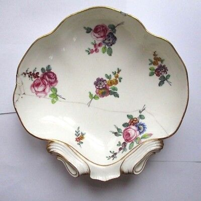 Rare Antique 18th century Sevres Hand Painted Porcelain Dish A/F