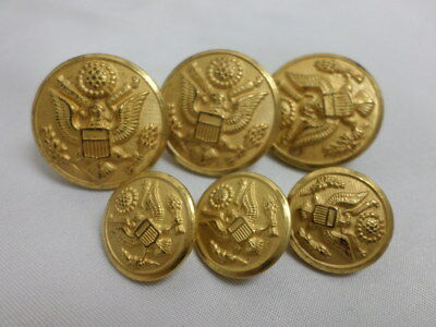 15 VINTAGE WATERBURY Button Company Metal Military Buttons