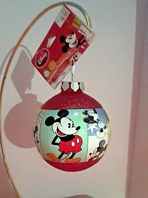 Disney~ 85th Anniversary~ Mickey Mouse Christmas Tree Ornament  blown glass