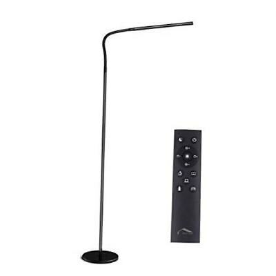 LED Modern Floor Lamps Flexible Gooseneck Standing Reading Light W/Stable Base
