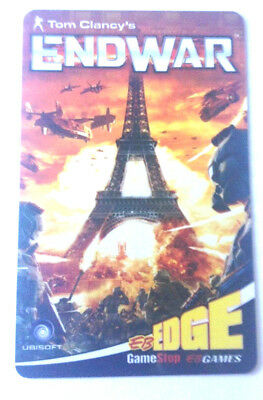 Eb Games Gamestop Tom Clancy's Endwar France Eiffel Tower Collectible Gift Card