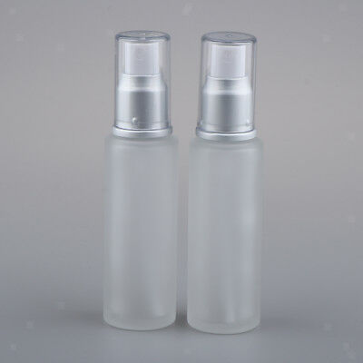 2 Packs Leakproof Travel Liquid Containers Makeup Lotion Glass Bottles 50ml