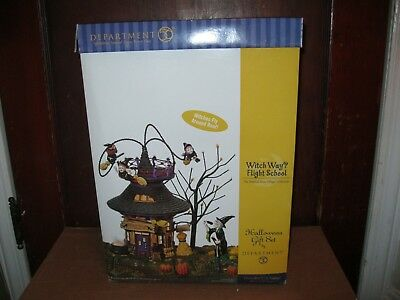 D 56 Department 56 Halloween Witch Way Flight School