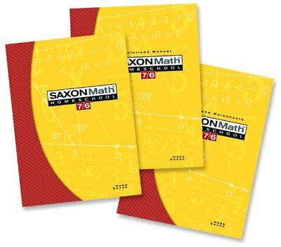 Saxon Math 7/6 Homeschool: Complete Kit 4th Edition by SAXON PUBLISHERS