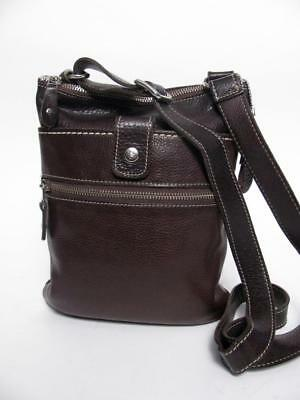 1fc80c7d058 Roots Canada Brown Leather Small Venetian Tribe Messenger Bag Shoulder Purse
