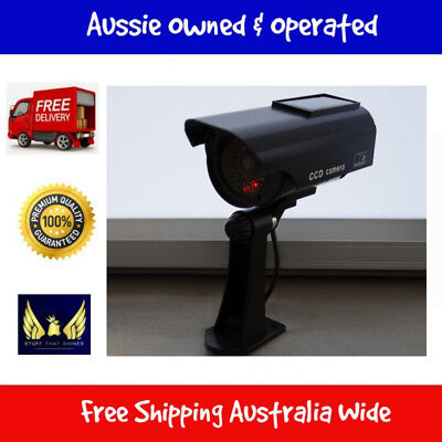 Solar Powered IR Simulation Dummy Security Camera With Red Flashing LED Light