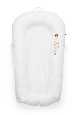 DockATot Deluxe Dock - Pristine White Stage 1 - Gently Used