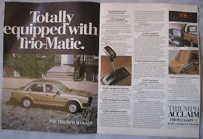 Triumph Acclaim Original advert No.1