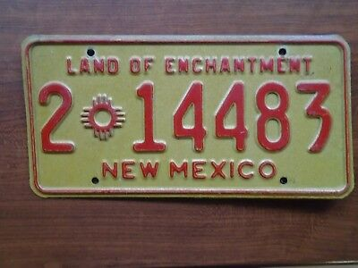 VINTAGE NEW MEXICO License Plate  LAND OF ENCHANTMENT