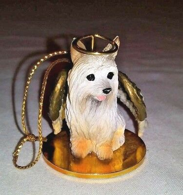 SILKY TERRIER Dog ANGEL Ornament Figurine Tiny One Dog Statue Vintage 1995   #32
