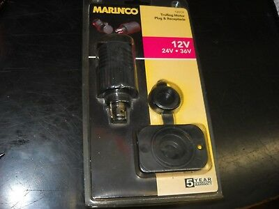 Marinco part# 12VCP Trolling motor plug & receptacle