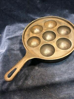 Vintage Griswold No 32 #962 Cast Iron Aebleskiver Danish Cake Pan Never USED !