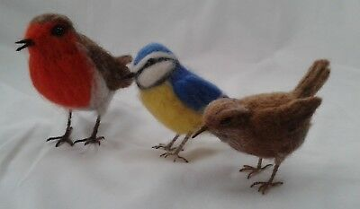Needle felting kit British Birds British Wool WULYDERMY